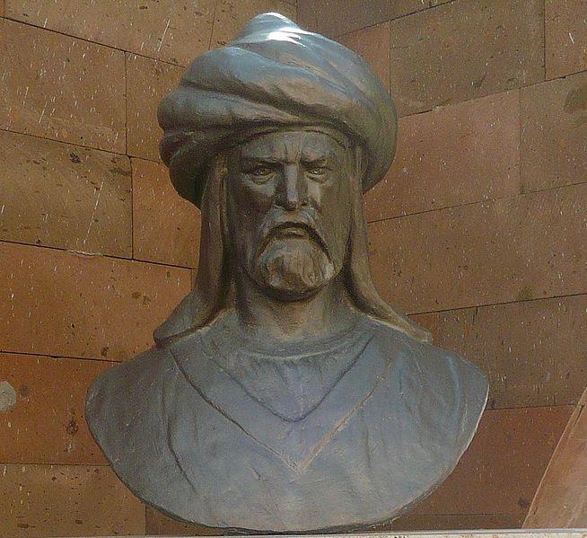 Statue of Batu Khan, grandson of Genghis Khan. Photo taken by Vikiçizer.