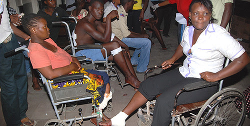 Kenyan blast victims in Mombasa on June 24, 2012. The attacks have been linked to the war of occupation in neighboring Somalia. by Pan-African News Wire File Photos