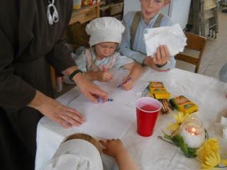 Sue & Children Working on Crafts
