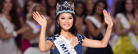 Miss World winner Wenxia Yu (Associated Press/Andy Wong)