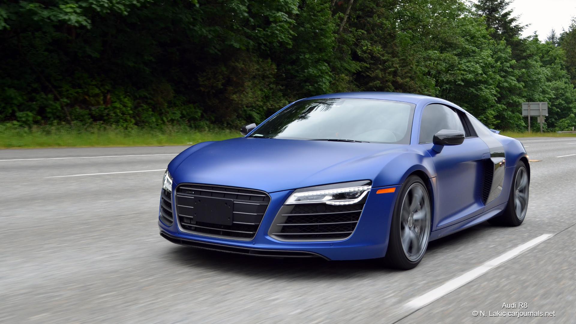 HD Car Wallpapers - Blue Audi R8 - Car Journals