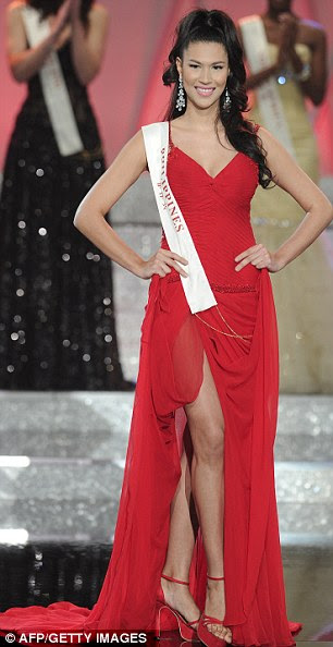 Runners up: Miss Puerto Rico, Amanda Victoria Vilanova Perez, left, and Miss Philippines, Gwendoline Gaelle Sandrine Ruais