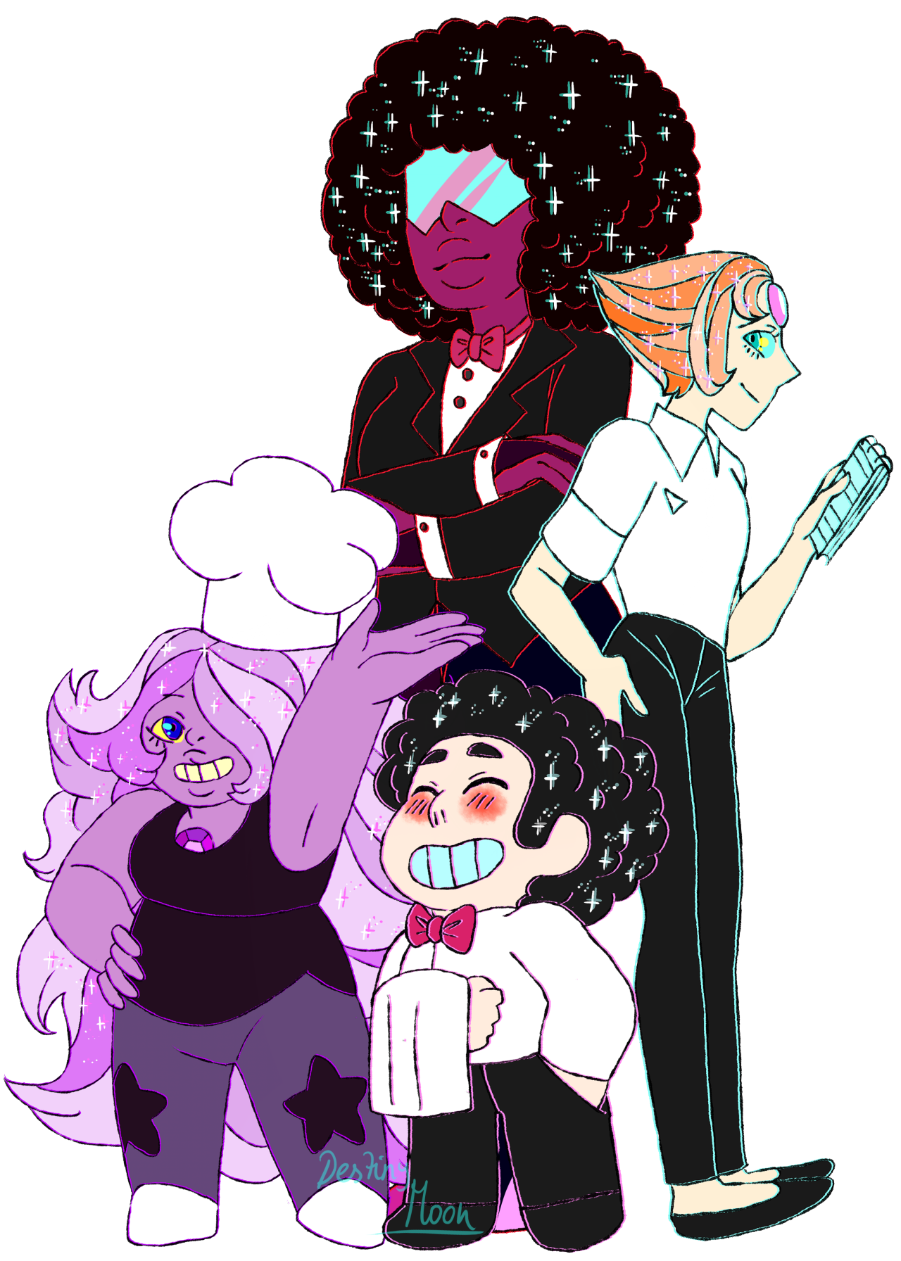 ELEGANT SQUAD! (I love how this is like a sticker ! )