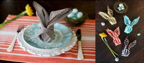 23 Napkin And Place Holder DIY's For A Fancier Easter