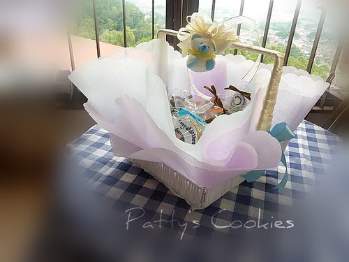gift basket for baby fullmoon by pattycookies