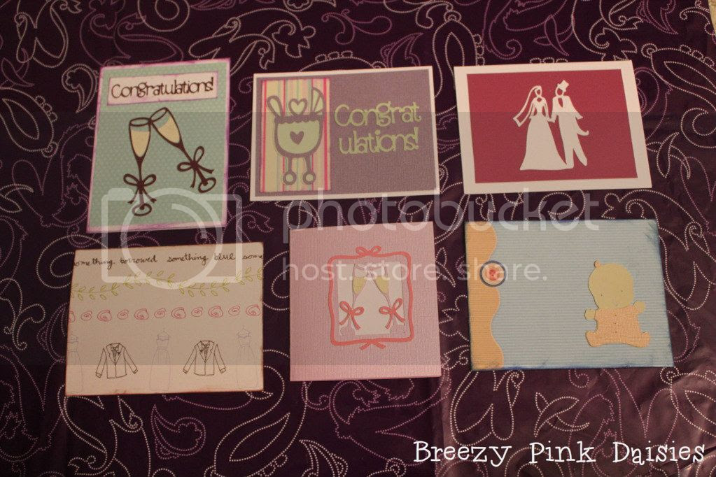 """cards made with the """"Stretch your Imagination"""" cricut cartridge"""