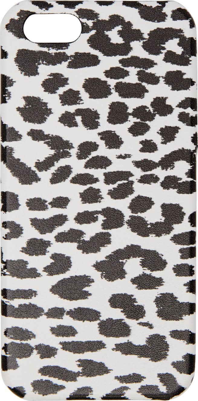 Saint Laurent White and Black Babycat Iphone Case 5