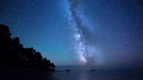 hd wallpaper milky  star night beach