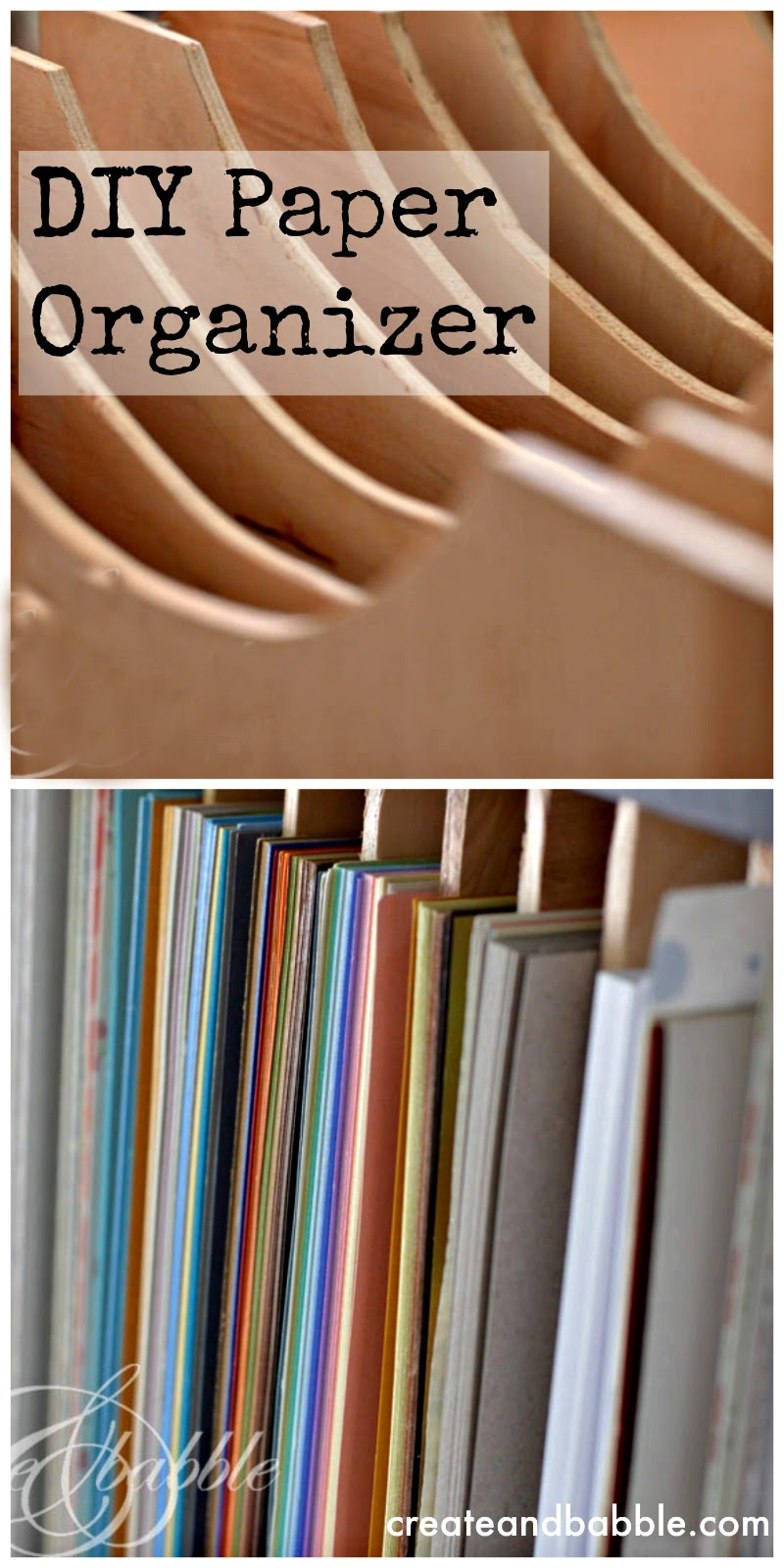 DIY Wooden Paper Organizer-createandbabble.com