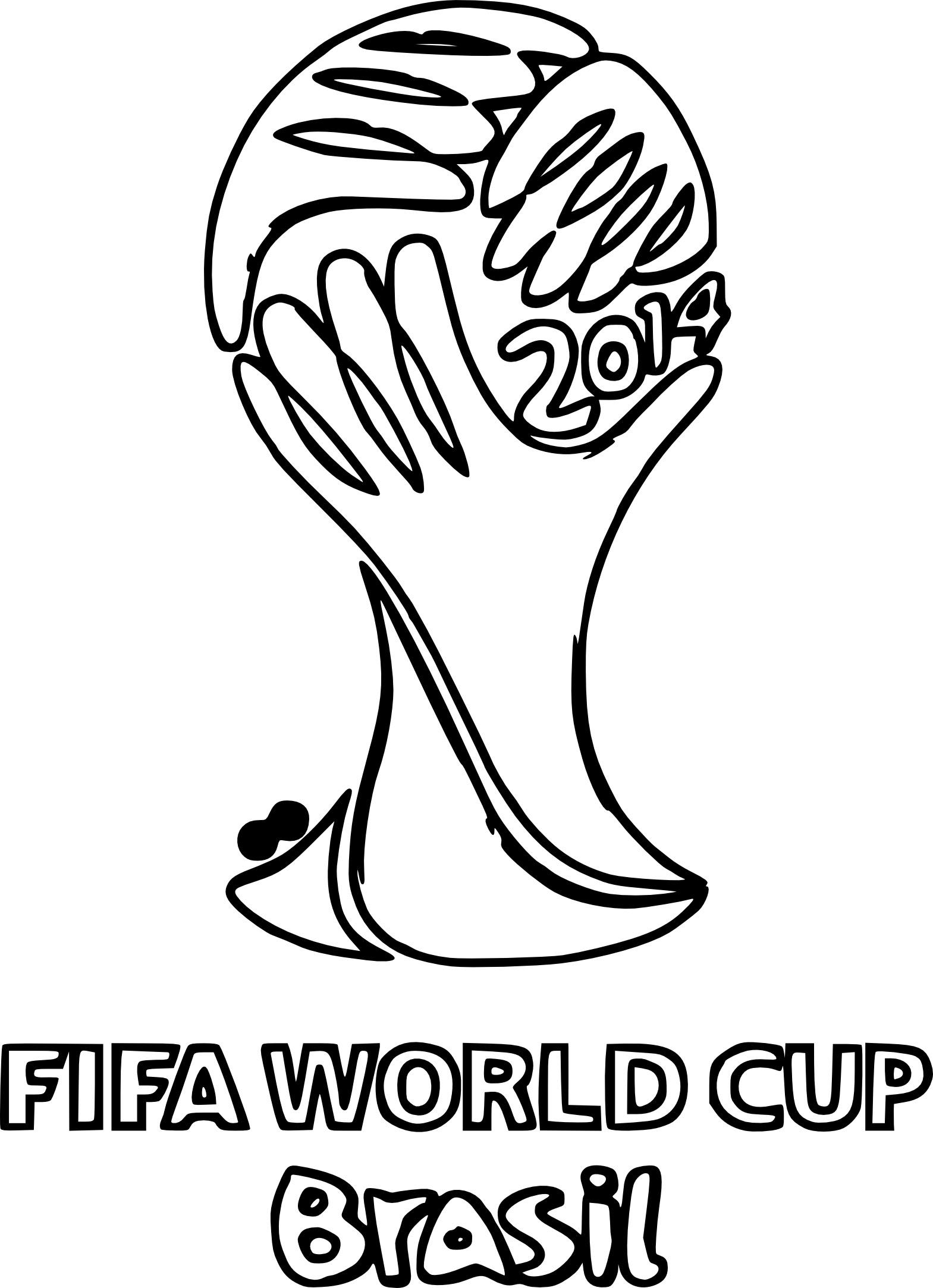 Coloriage Coupe Du Monde 2014 à Imprimer