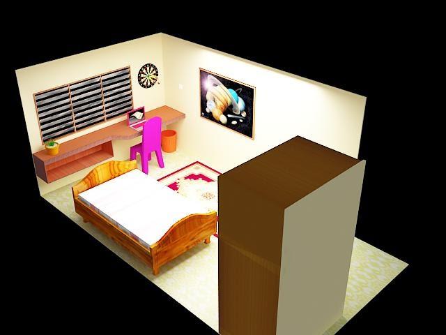 Model room small interior design ideas for Small comfort room design