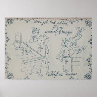 grandma's wall cloth poster