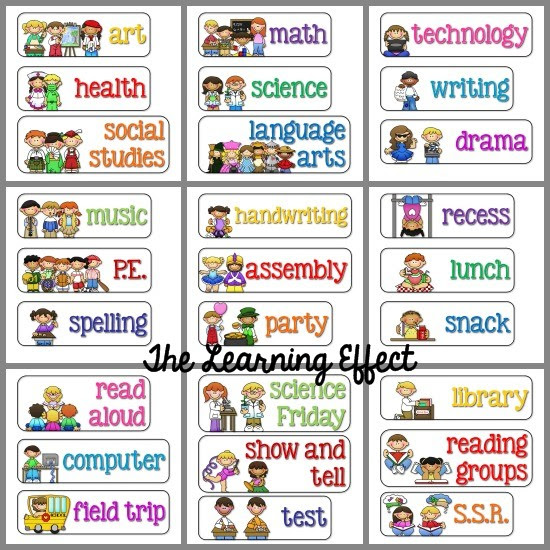 5 Best Images of Visual Classroom Schedule Printables - Printable ...