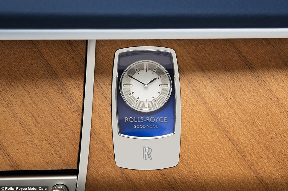 The interior clock is like no other in a Rolls-Royce. That's because it's based on the patron's favourite watch face