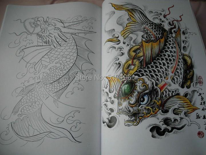 Satın Al Toptan Yeni Japon Tarzı Dövme Flash Sketch Kitap A4