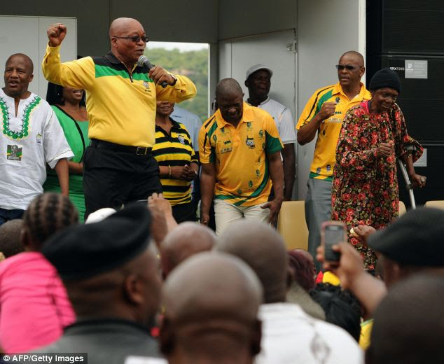 Speaking in his native Zulu language at a pre-election rally in the country's rural north, he told a crowd of his voodoo past