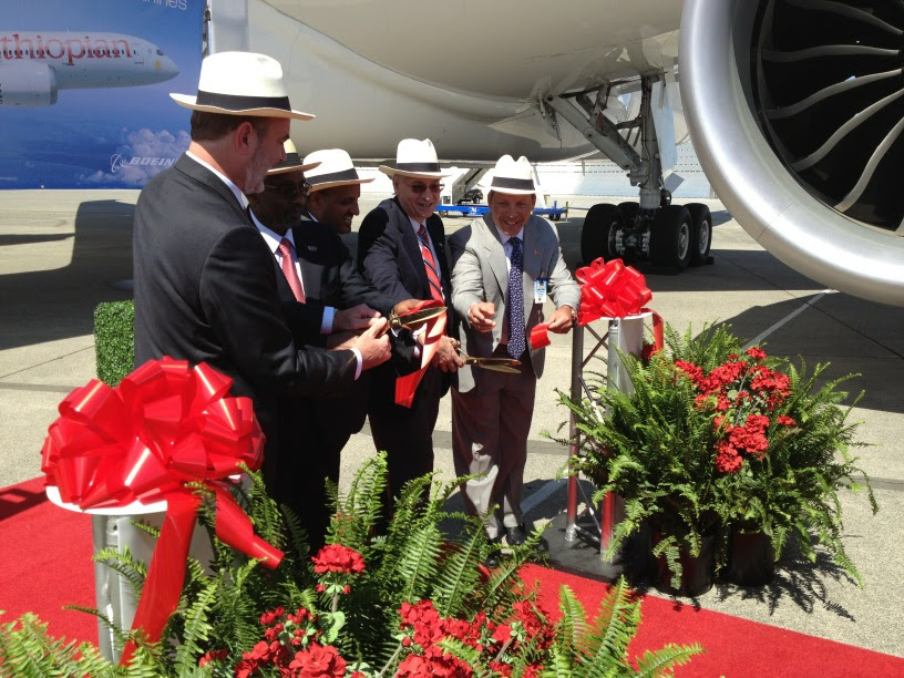 Ribbon Cutting Ceremony for Ethiopian's first 787
