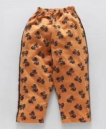 Taeko Full Length Lounge Pant Allover Print - Light Orange