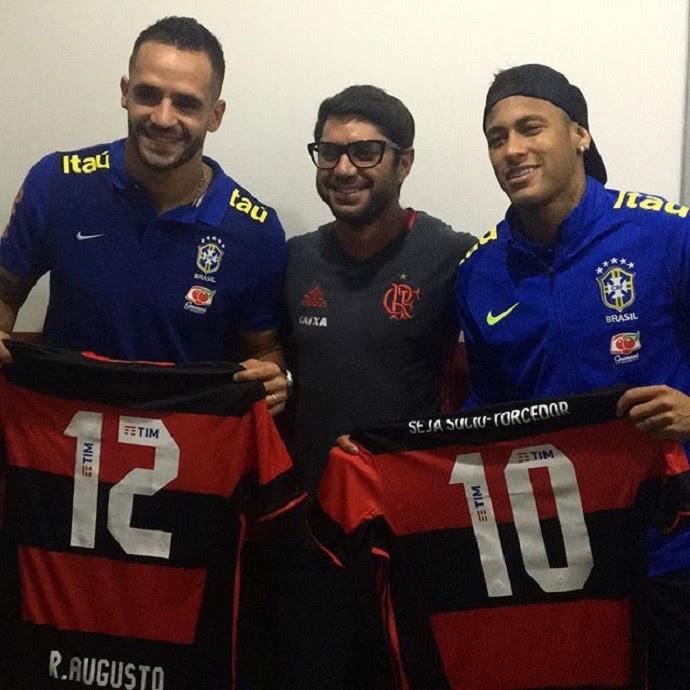 Neymar camisa Flamengo Renato Augusto (Foto: Reprodução/Twitter)