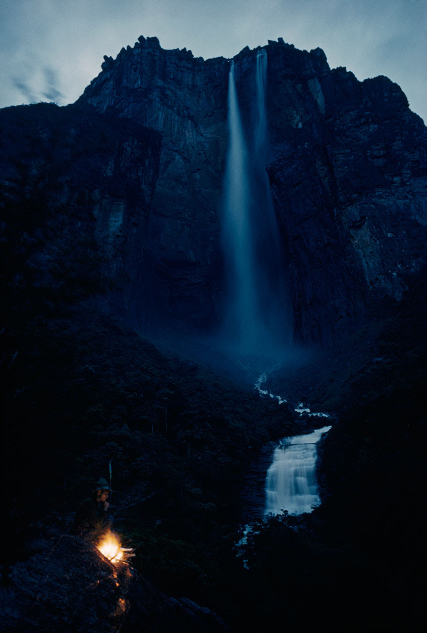 Roaring Out Of Auyan-tepui's Wall, A Waterfall Plummets Over 3,000 Feet In Venezuela, March 1963
