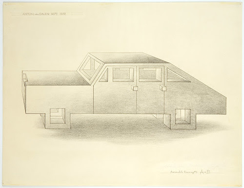 Anton van Dalen Automobile Drawing No.5  1972