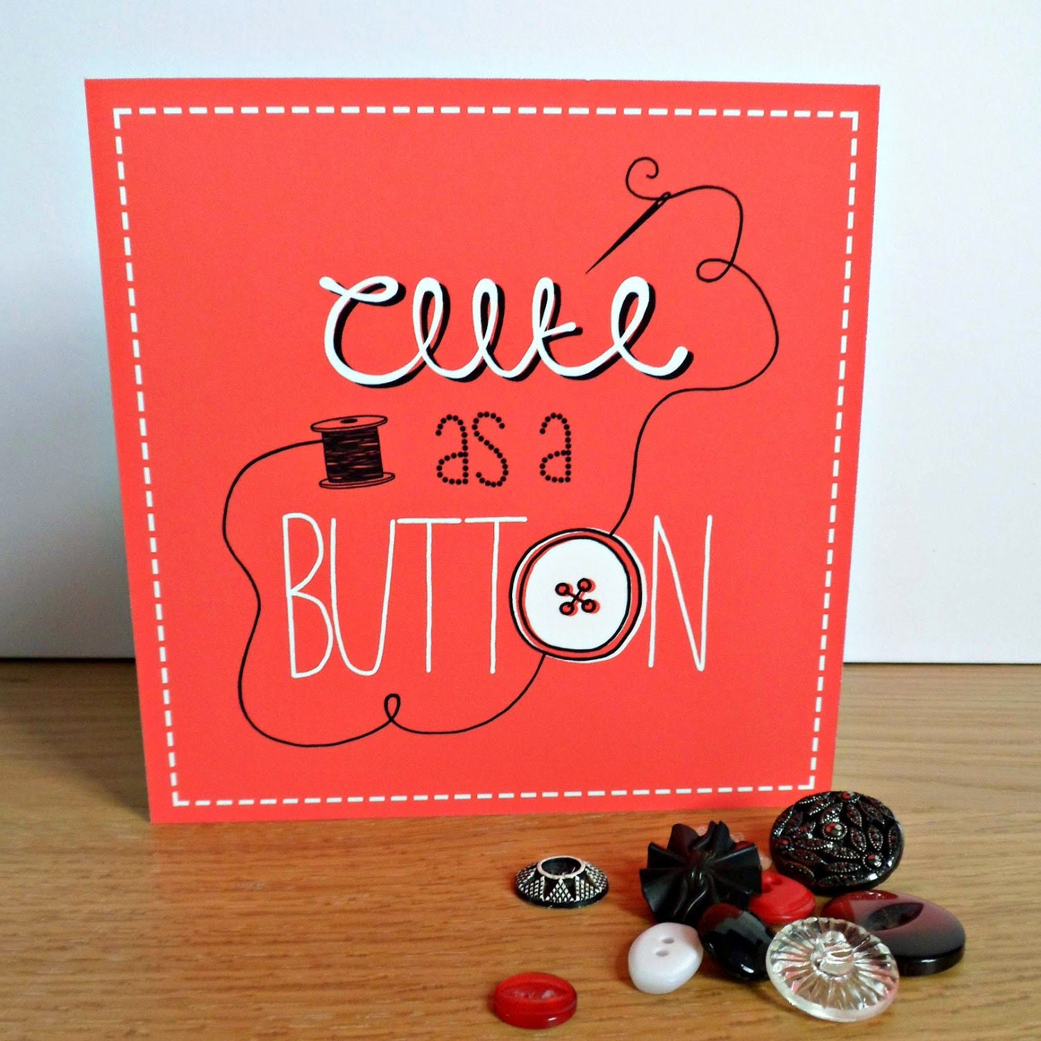 Valentine's Card - Cute as a Button
