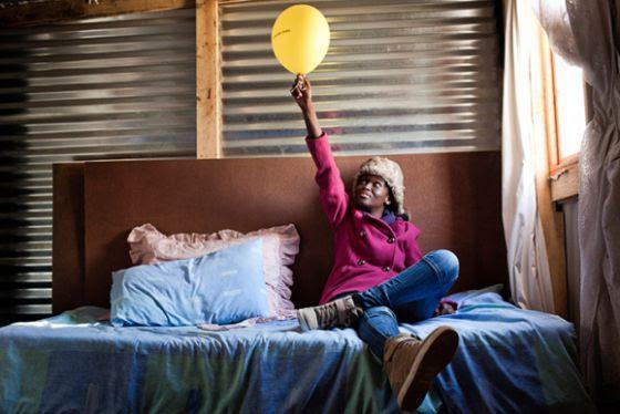 Phumeza Tisile, el día en que celebró que se había curado de tuberculosis.