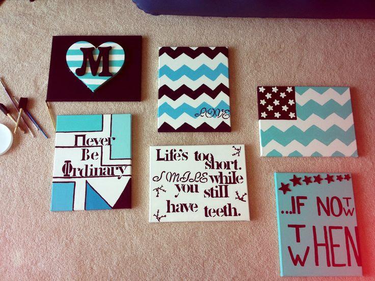 Canvas wall art. Easy DIY dorm idea! | Cawledge | Pinterest