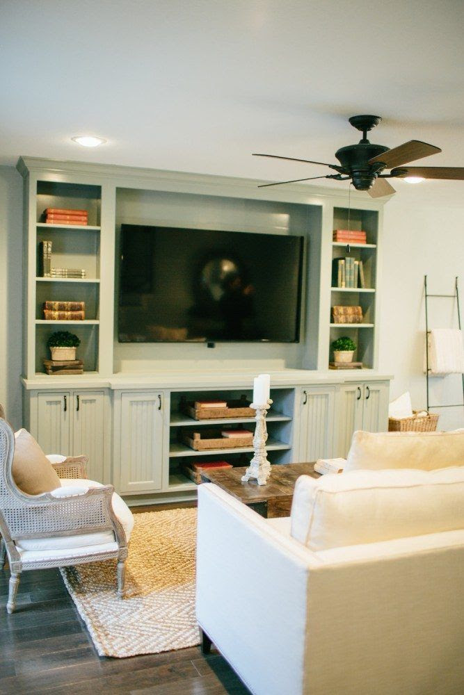 Fixer Upper Living Room Built In Cabinets Living Room