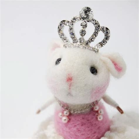 Needle Felted Felting project Animals Cute Mice Mouse