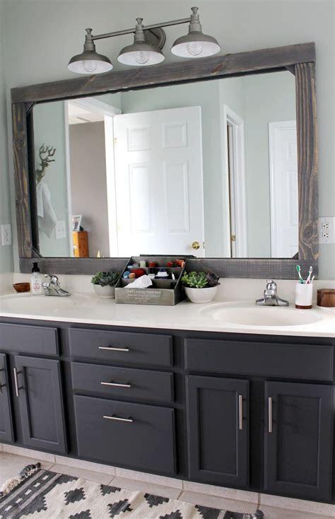 frame  mirror  wood bathroom mirror design