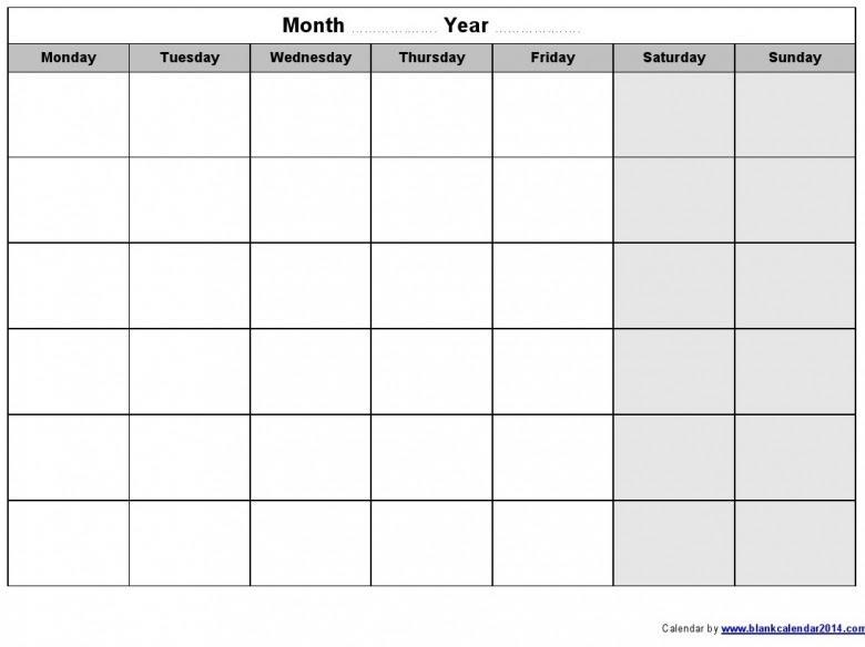 monthly calendar printable calendar blank template xjb 1