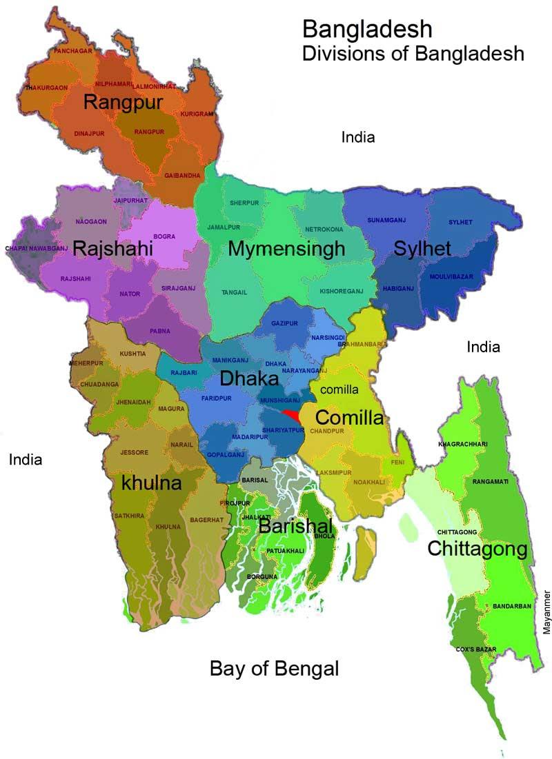 Map of Bangladesh -
