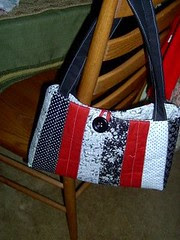 Black White and Red Purse