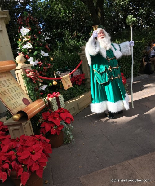 Father Christmas in the United Kingdom Pavilion