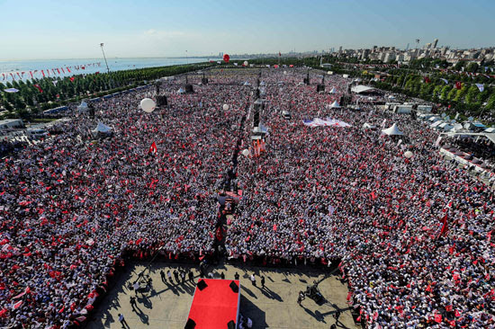 مظاهرات فى إسطنبول