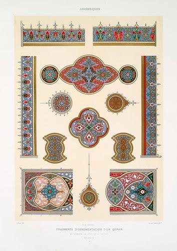 Arabesques - fragments d'ornementation d'un Qoran du tombeau de soultan el-Ghoury (XVIe. siècle) a