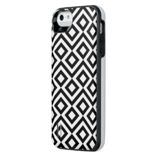 Black and White Meander Uncommon Power Gallery™ iPhone 5 Battery Case