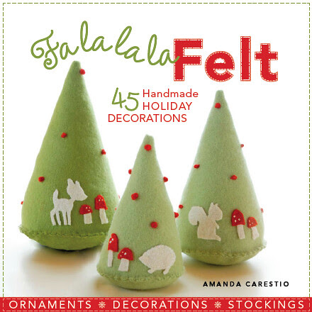 fa la la la felt...and guess whose trio of trees is on the cover!