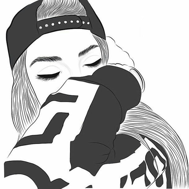 Dab Dessin Dessins De Fille Tumblr Outlines Image 3685354