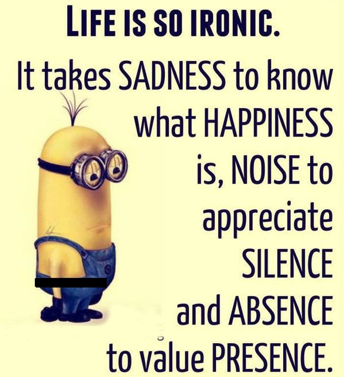 Life Is So Ironic Minion Quote Pictures Photos And Images For
