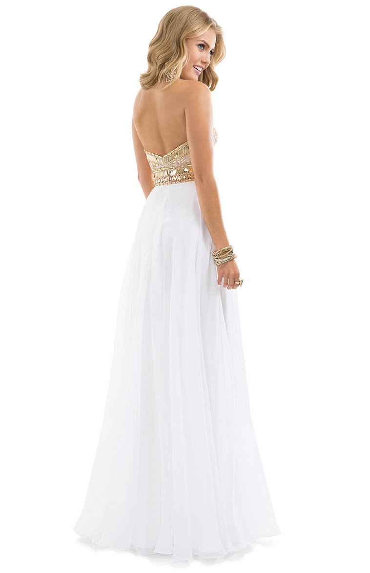 Exquisite A-line Sweetheart Crystal&Pearl Detailing Floor-length Chiffon Evening Dresses_2