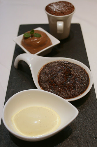 Chocolate Test - souffle, creme brulee, mousse
