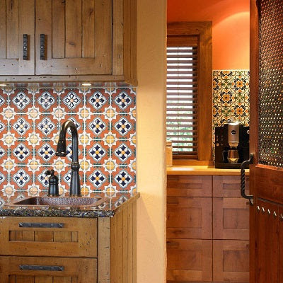 Different Spanish Wall Tile Patterns Add Interest