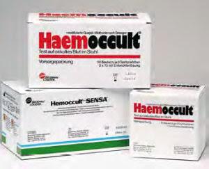 Haemoccult Test auf okkultes Blut im Stuhl-test ...