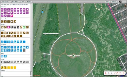 Open Street Map Potlatch 2 POI