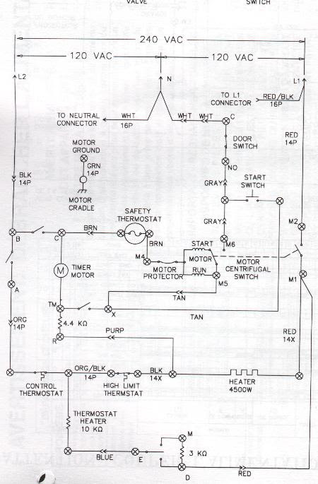 Sample Dryer Wiring Diagrams Appliance Aid