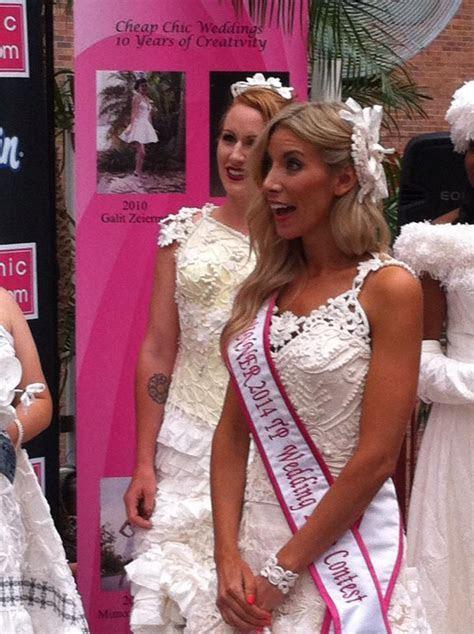 Wedding Contest 2014   Toilet Paper Wedding Dress