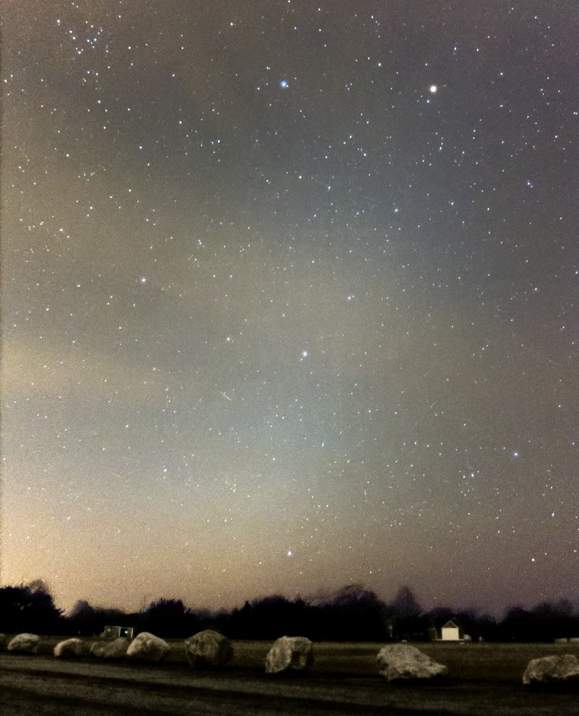 Zodiacal light over Charleston, RI (Scott MacNeill, Frosty Drew Observatory)