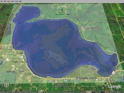 Houghton lake walleye report houghton lake map for Enid lake fishing report